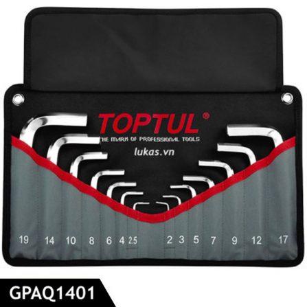 Bộ lục giác 14 cái loại ngắn GPAQ1401 Toptul Taiwan.
