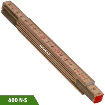 Thước xếp 1-2 mét bằng gỗ sồi 600 N-S series Stabila Germany.