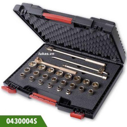 Bộ socket chống cháy nổ 24 món, 1/2 inch 0430004S Elora Germany.