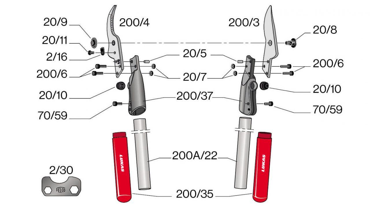 Phụ kiện thay thế cho kéo cắt cành Felco 200A.