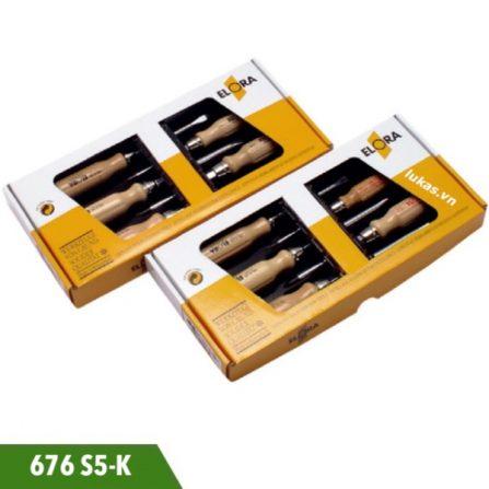 Bộ tua vít 5 cái 676S5-K gồm 2 cạnh 100, 125 và 150mm.