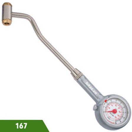 Đồng hồ đo áp suất lốp xe 0-10 bar model 167 Elora Germany.