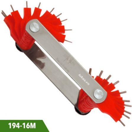 Dưỡng đo lỗ 16 lá dài 65mm bằng thép 194-16M Elora Germany.