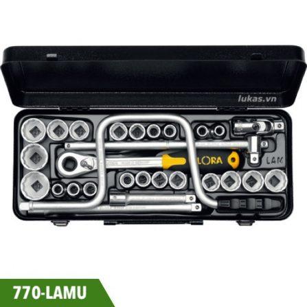 Bộ đầu tuýp 28 món 770-LAMU đầu vuông 1/2 inch Elora Germany.