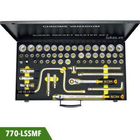 Bộ socket 57 món 770-LSSMF tuýp 12 cạnh 1/2 inch Elora Germany.