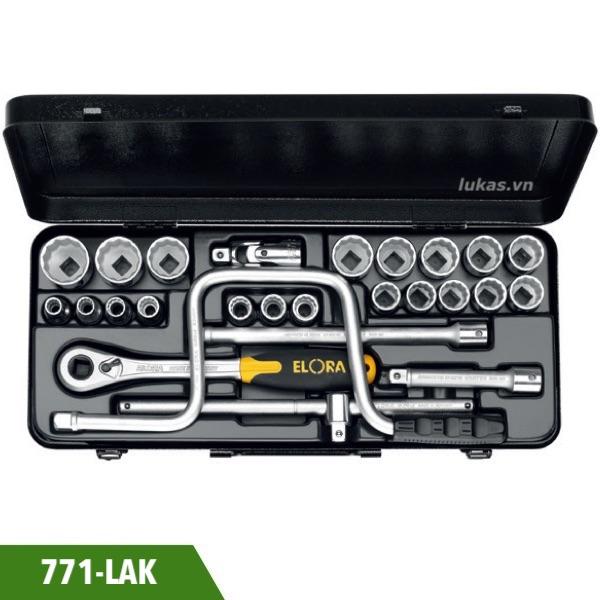 Bộ socket hệ inch 24 món 771-LAK đầu vuông 1/2 inch Elora Germany.