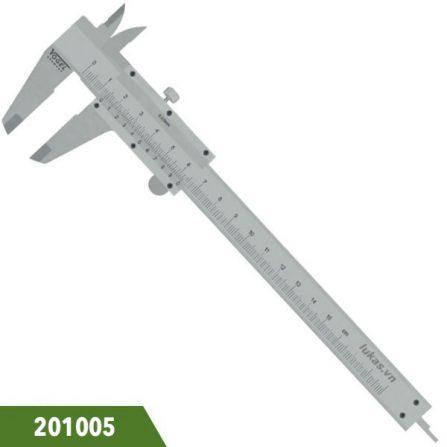 Thước cặp 15cm, độ chính xác 0.02mm, Vogel 201005, ngàm 40x16mm. Đáp ưng tiêu chuẩn DIN 862. Sản xuất tại Đức.