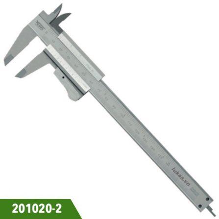 Thước cặp cơ inox 150mm, độ chính xác 0.05mm, Vogel 201020-2. Ngàm 40x16mm. Chuẩn DIN 862. Sản xuất tại Đức.