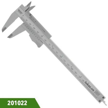 Thước kẹp cơ 6 inch 150mm bằng inox, Vogel 201022. Ngàm 40x16mm. Đáp ứng chuẩn DIN 862. Sản xuất 100% tại Đức.