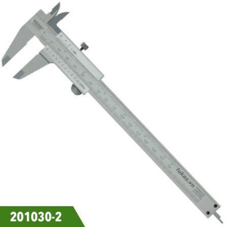 Thước kẹp cơ inox 150mm, độ chính xác 0.05mm, Vogel 201030-2. Ngàm 40x16mm. Chuẩn DIN 862. Sản xuất tại Đức.