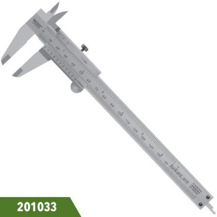 Thước cặp 150mm loại cơ, bằng inox, ngàm 40x16mm, Vogel 201033. Đáp ứng chuẩn DIN 862. Sản xuất 100% tại Đức.