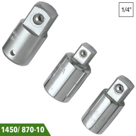 Đầu chuyển tuýp 1/4 inch Elora 1450/ 870-10. Đầu vuông chuẩn DIN 3120, ISO 1174. Sản xuất theo chuẩn DIN 3123, ISO 3316.