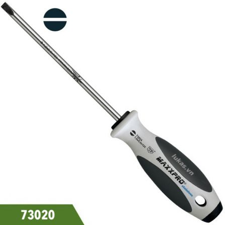 Tô vít inox đầu dẹt, thân tròn, cán nhựa, Witte 73020. Đáp ứng chuẩn DIN 5264 and ISO 2380.