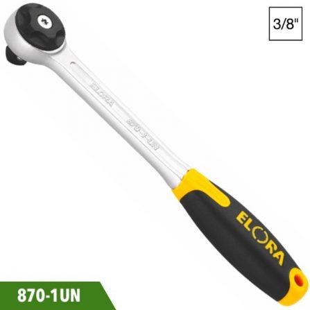 Cần tự động đầu tròn 3/8 inch 195mm, Elora 870-1UN. SX chuẩn DIN 3122, ISO 3315. Đầu vuông chuẩn DIN 3120-A 10, ISO 1174.