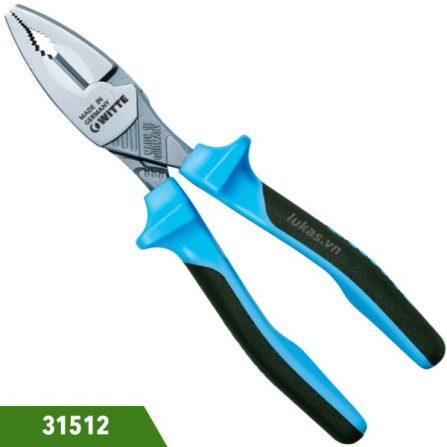 Kìm răng 180mm 31512 Witte Germany, loại heavy duty. Sản xuất theo chuẩn DIN ISO 5746. Chuôi bọc nhựa. Sản xuất tại Đức. Giá cạnh tranh.